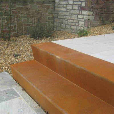 Photo 1 Geroba Escaliers Acier Corten 48x300x34cm